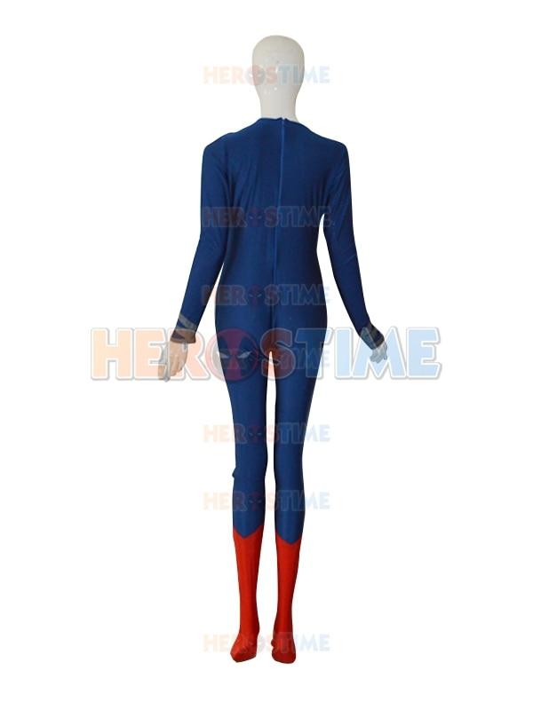 Deep Blue & Red Steel Superman Costume The New Lycra Spandex Superman - Carnavalskostuums - Foto 4