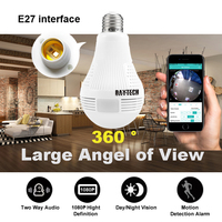DAYTECH 1080P Wireless Panoramic IP Camera 2MP Home Surveillance Network Camera Security Lamp Night Vision Audio