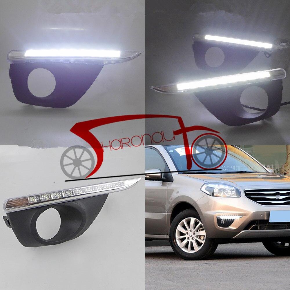 9 LED Fog Lamp Day font b Light b font For Renault For koleos 2011 2013