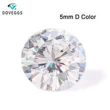 DovEggs One PCS 5MM D Color Clear VVS Excellent 8 Hearts and Arrows Cut Moissanite Loose Stone for Fine Jewelry Making
