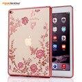 Для iPad Air2 Case Мода Покрытие Кадра Secret Garden Flower для iPad 6 Tablet Case Алмаз Мягкие TPU Защитная Капа CL932