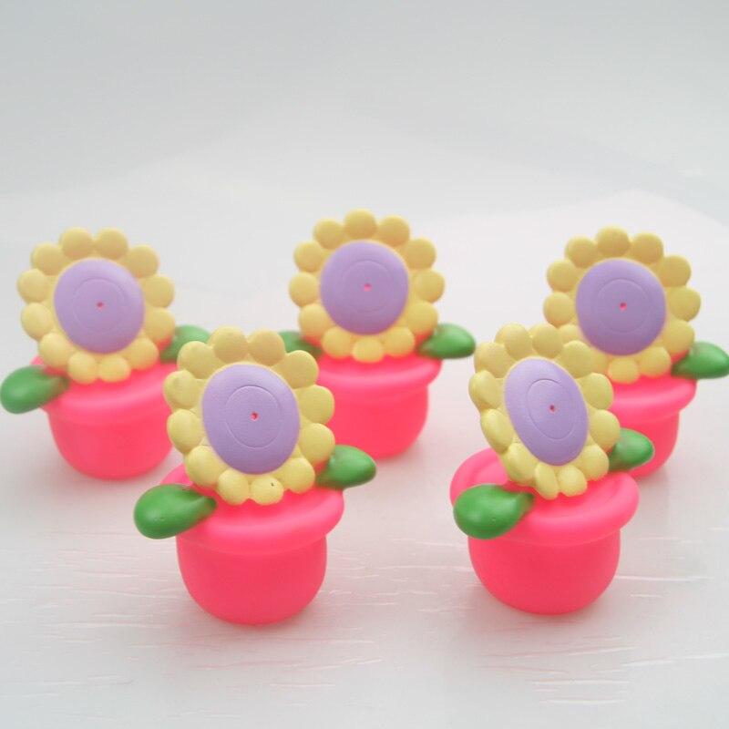 2018 New Sun Flower Water Spray Toy Soft Plastic Pvc Material Baby Bath Best Choice
