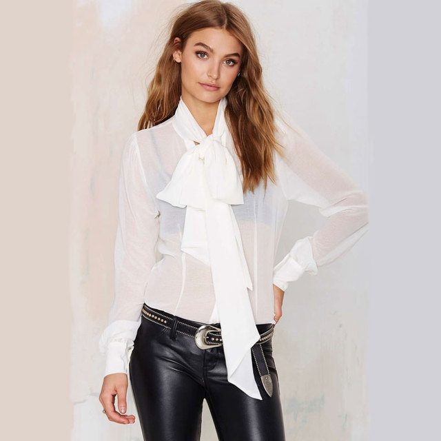 Aliexpress.com : Buy New Fashion White Long Sleeve Shirt Women ...