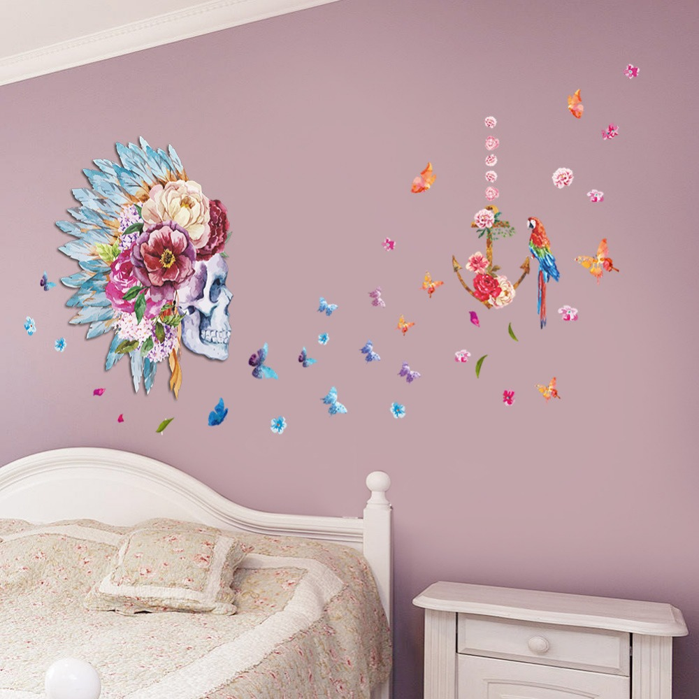 Compare Prices on Wall Stickers Indian Flowers Online Shopping