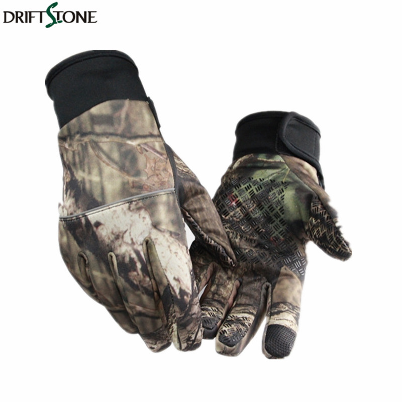 New Bionic Camouflage Jagd Handschuhe Dicke Warme Winddicht Slip-proof <font><b>Touch</b></font> Screen Handschuhe Winter outdoor sport taktische handschuhe image