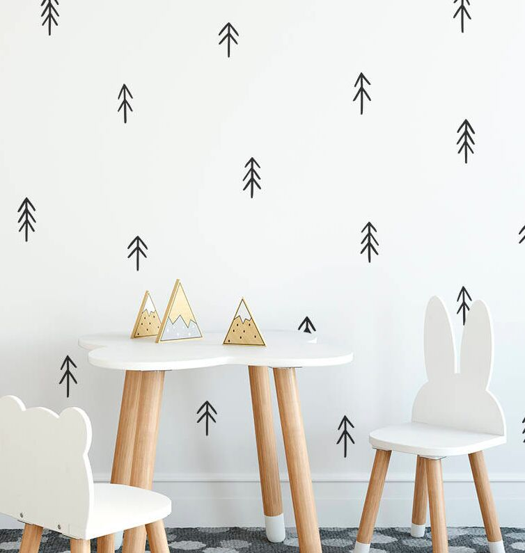 Us 10 53 Tree Wall Decals Removable Vinyl Nursery Wall Stickers Hand Drawn Style Tree Home Decor Nursery Kids Bedroom Wall Decals Ay0133 In Wall