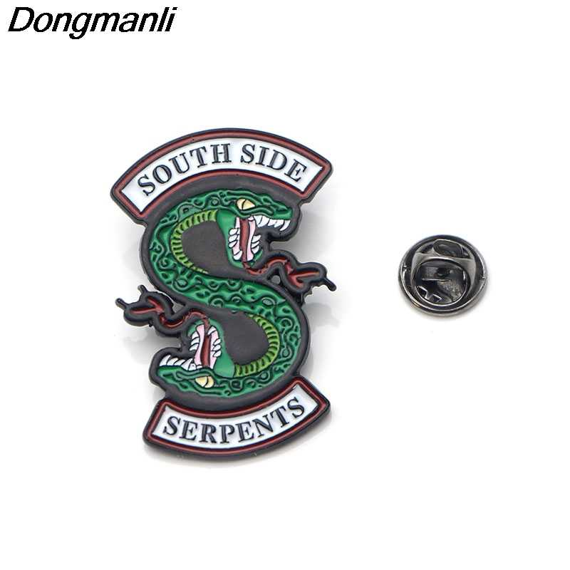 DMLSKY Riverdale Pin Women Fashion Enamel Pins Backpack Bag Brooch badges for Clothing Tie Pin Charm jewelry M2062