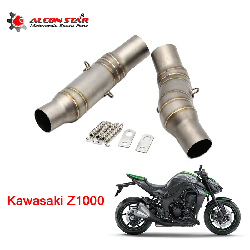 Motorcycle Slip on Full Exhaust System Middle Pipe Link for Kawasaki Z750 07-12