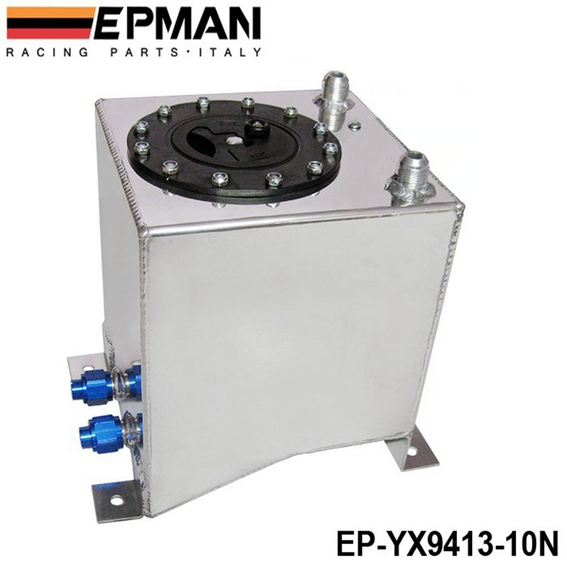 Universal Car Auto Fuel Surge Tank Container 10 Litre Swirl Pot System Alloy EP YX9413 10N