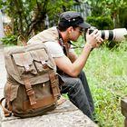 Canvas Hiking Backpacks Men Vintage Leather Military &Women School Backpacks men Travel bag big Canvas Backpack Large bag