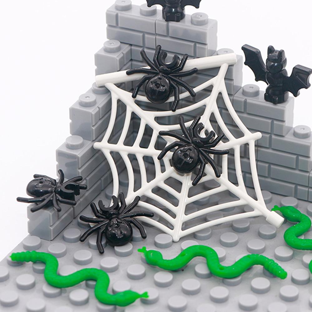 City Animal Building Blocks Bat Spider Web Snake Superhero Jungle Garden Park Zoo Friends MOC Bricks Toys Compatible LegoINGlys