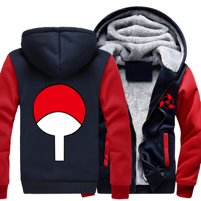 NARUTO Thicken Hoodie Red & White in 19 Styles