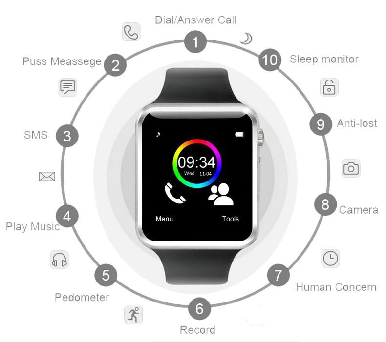 A1 WristWatch Bluetooth Smart Watch 0036