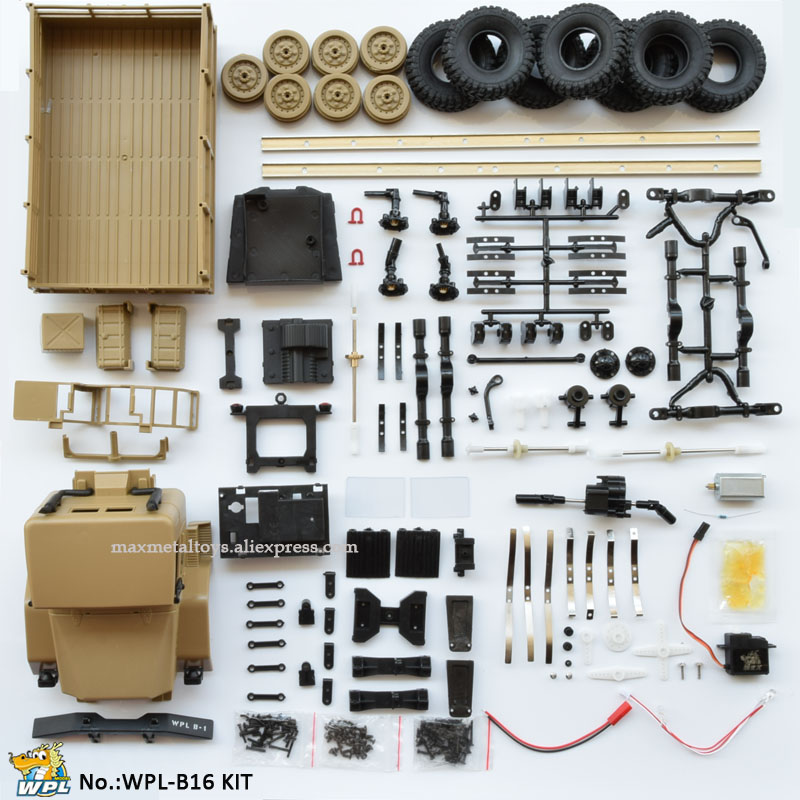 WPL B16 <font><b>1</b></font>:16 KIT DIY RC Truck Assemble Crawler Car 2.4G Mini Off-Road Remote Control Car Mini RC Monster Truck 6WD image