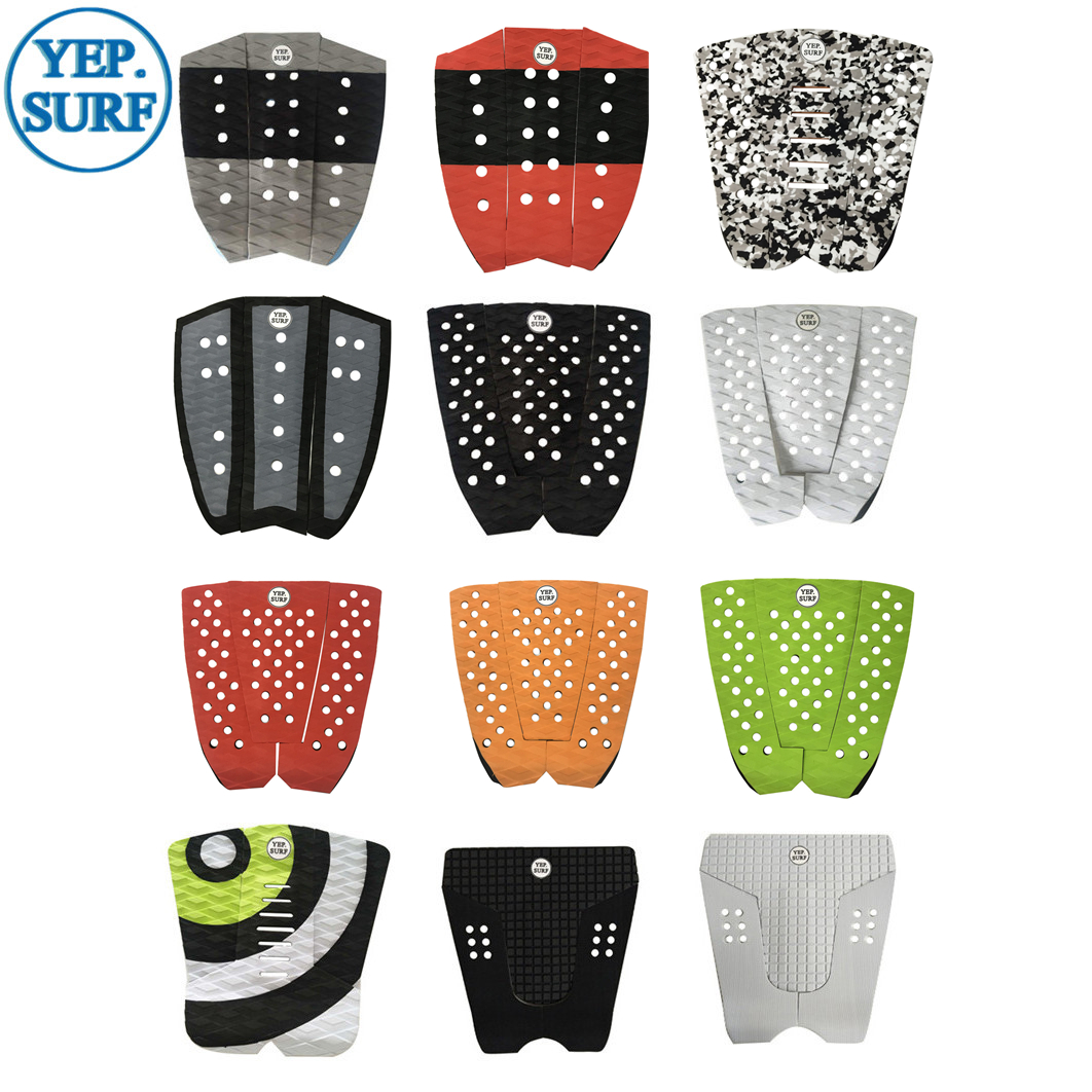 SUP Stand Up Paddle SUP Pad  Traction Surf Pad 3M Glue Deck Pad 6 Colors Black ,white, Grey EVA Surf Foot Pad