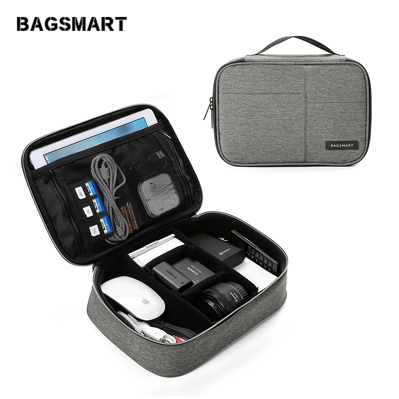 Waterproof Travel Electronic Accessories Organizer Bag Large Capacity Cable Storage Bag Fashion Design Travel Accessories Bags image