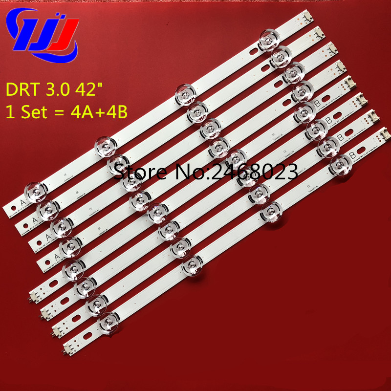 100%NEW LED Strips for LG 42LB5800 42LB5700 42LF5610 42LF580V LC420DUE FG panel DRT 3.0 42 A/B type 6916L-1709B 6916L-1710B