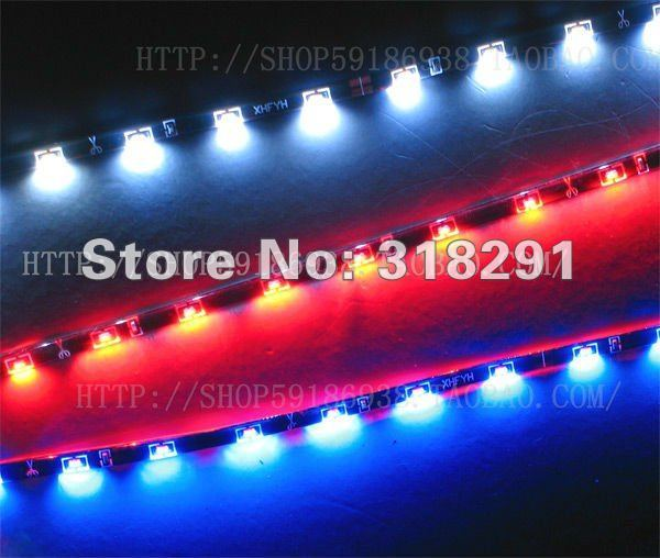 free shipping 60cm 30LEDs 335 flexible led strip side shine light IP68 Waterproof led strip light