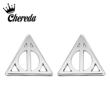 Chereda Cute Tiny Simple Geometric Stud Earring for Women Pendientes Jewelry Personality Girls Brincos Valentines Day