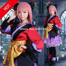 VOCALOID2 Megurine Luka Cosplay Costumes Elegant Flower Cosplay Lolita  Kimono On Sale(China) 4d211058f2ad