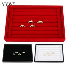 Velvet Ring Display Cardboard Luxury Jewelry Show Case Wholesale 5pcs/lot Rectangle 220.00x143.00x34.00mm