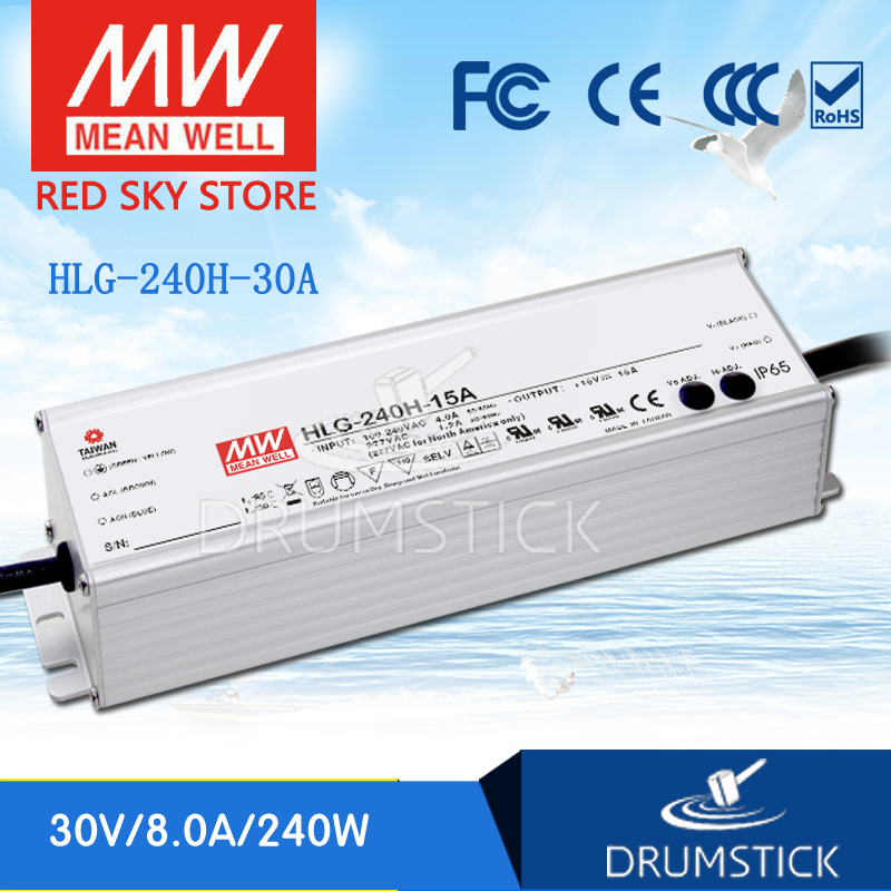 Selling Hot MEAN WELL HLG-240H-30A 30V 8A meanwell HLG-240H 30V 240W Single Output LED Driver Power Supply A type