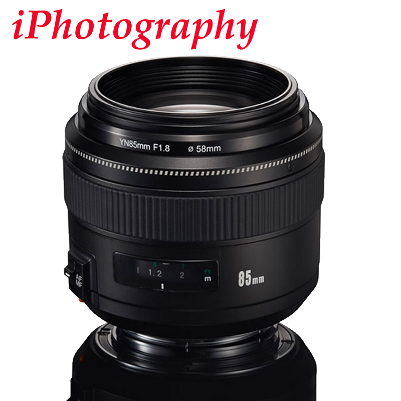 YONGNUO YN85mm F1.8 Lens Standard Medium Telephoto Prime fixed focus lens For Canon EF Camera 7D 5D Mark III 80D 70D 760D 650D genuine new canon ef 70 200mm f 2 8l f2 8 l usm telephoto zoom lens