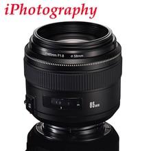 YONGNUO YN85mm F1.8 Lens Standart Orta Telefoto Başbakan sabit odak lens Canon EF için Kamera 7D 5D Mark III 80D 70D 760D 650D