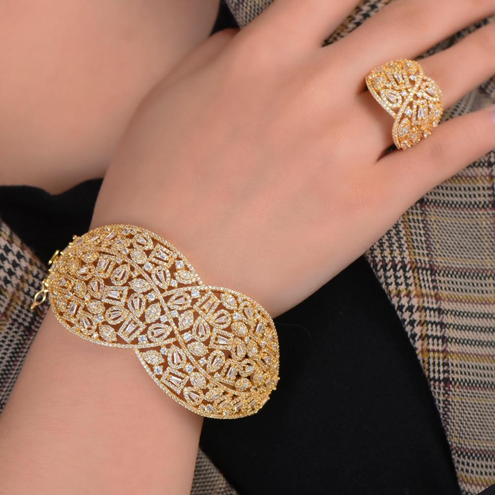 Missvikki délicat magnifique bracelet à breloques bracelets bague pour femmes ensemble de bijoux femmes occasion importante accessoires de mode