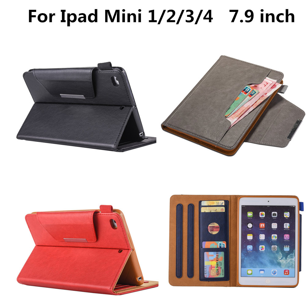 Smart Case for ipad Mini 2 1 3 4 cases Flip PU Leather Stand Cover for Apple Ipad Mini2 mini3 mini4 Universal protector cover blue butterfly flower mini4 mini2 mini3 flip cover for ipad pro 9 7 air air2 mini 1 2 3 4 tablet case protective shell
