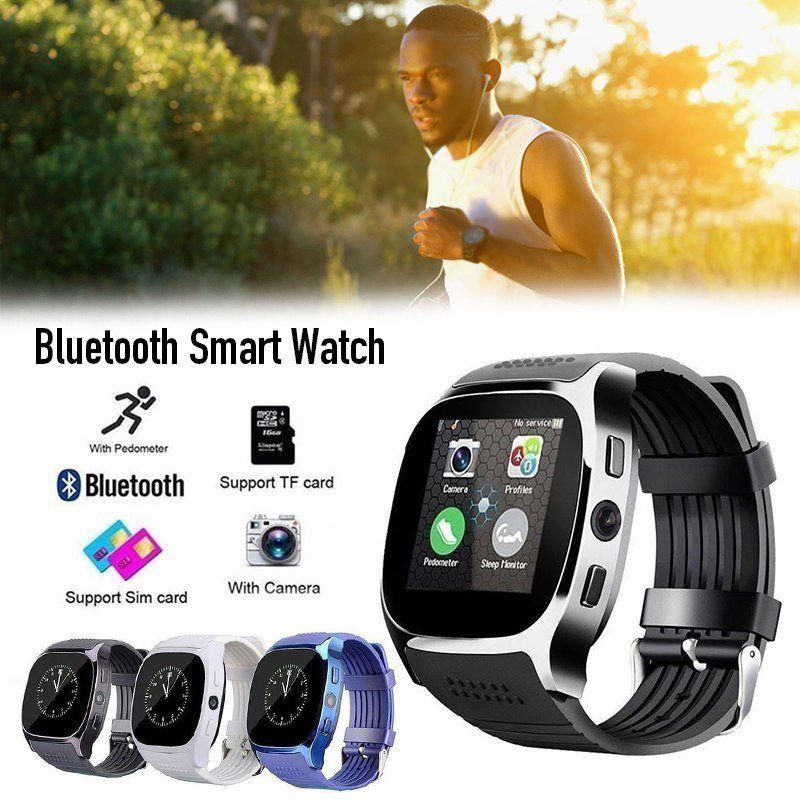 Lemado T8 Bluetooth Smart Uhr Mit Kamera Facebook Whatsapp Unterstützung SIM TF Karte Anruf Smartwatch Für Android Telefon PK Q18 DZ09