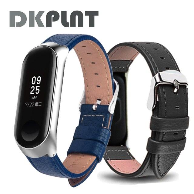 Banda de reloj para xiaomi mi band 3 Correa deportiva reloj de pulsera de cuero para xiaomi mi Band 4 accesorios pulsera mi band 4/3 Correa