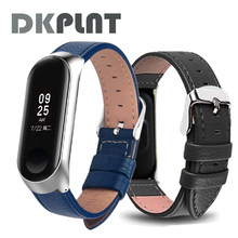 Watch band for Xiaomi Mi Band 3 Sport Strap watch Leather wrist strap For xiaomi mi band 3 accessories bracelet Miband 3 Strap(China)