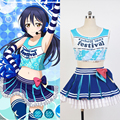 LoveLive! amor Ao Vivo Sonoda Umi Cheerleaders Uniforme Colete Top Saia Anime Trajes Cosplay de Halloween Para Mulheres Feitas Sob Encomenda