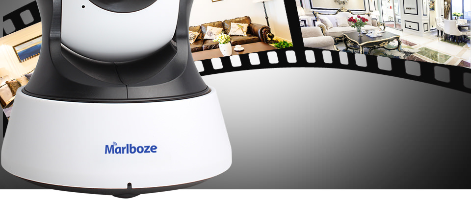 Marlboze 1080P Haute Densité Wifi Caméra IP sans fil closed-circuit Television Home Security Surveillance Camera