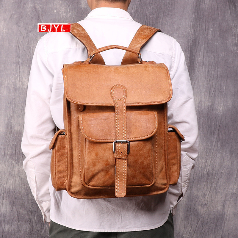 2019 new genuine leather mens backpack outdoor casual men shoulder bag first layer leather 14 inch computer travel backpacks2019 new genuine leather mens backpack outdoor casual men shoulder bag first layer leather 14 inch computer travel backpacks