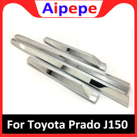 For Toyota Land cruiser Prado fj150 2018 ABS chrome side door trim cover car styling body guard deflector accessories