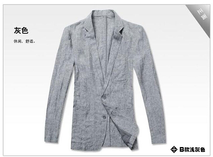 Aliexpress.com : Buy Single buckle slim fit blazer men suit linen ...