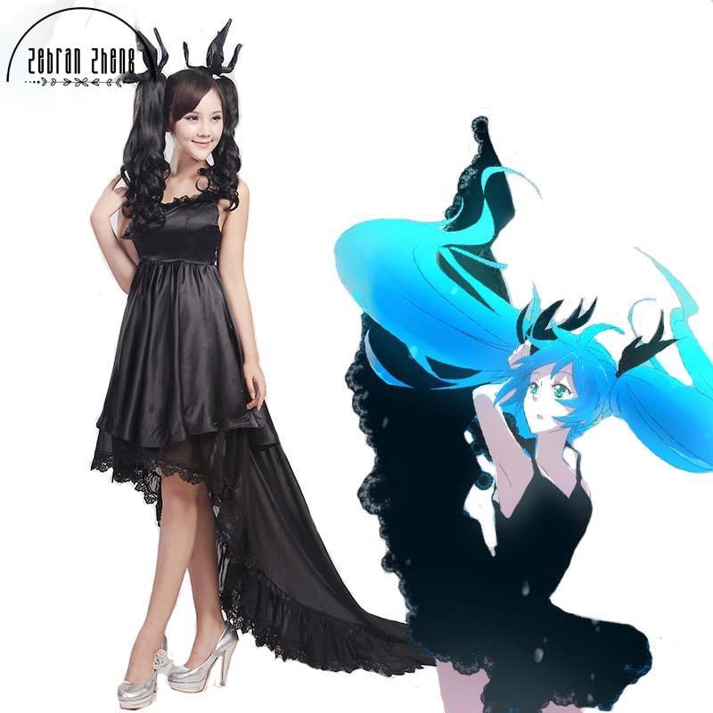 1529b6c96a93 Nueva llegada vocaloid Deep Sea chica hatsune miku Cosplay traje mujer  vestido Falda larga vestido hallween vestido por encargo