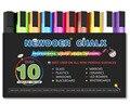 10 Color Bright Neon Liquid Chalk Marker Pen Set Child Friendly Perfect for Chalkboards, Bistro, Windows Glass Labels Whiteboa