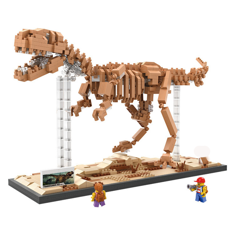 Dinosaurs Jurassic World Park Figures Building Tyrannosaurus Assemble Blocks Sermoido Kids Toy