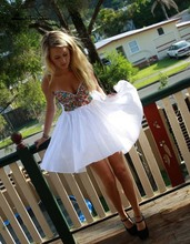 Vestidos De 15 Anos Curto 2015 New Sweetheart Colorful Crystal MIni Short Homecoming font b Dress