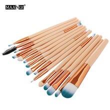 Набор кистей для макияжа maange pro 15 шт кисти теней основы