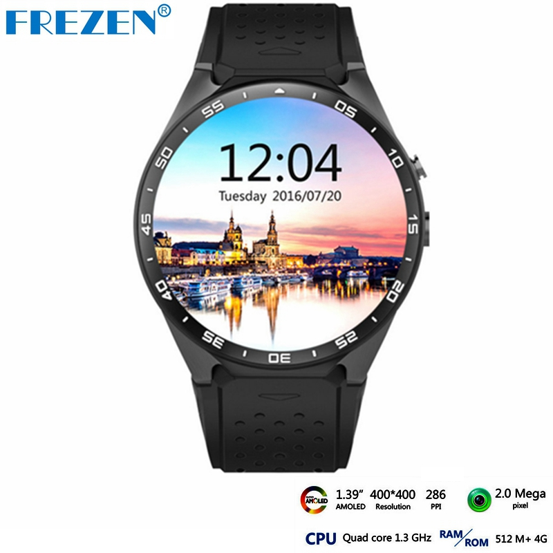 FREZEN Kingwear KW88 Android 5.1 Smart Watch 3G WIFI 1.39 inch SmartWatch Phone Mtk6580 Nano SIM Heart Rate Monitor PK X200 3g android smart watch kingwear kw06 pk kw88 wristwatch support sim mtk6580 quad core smartwatch pedometer heart rate wifi gps