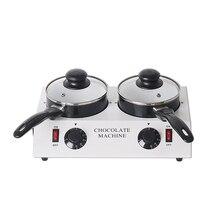 ITOP 80W Electric Chocolate Melting Machine Ceramic Non-Stick Pot Tempering Cylinder Melter Pan 220V (2 Melting Pot)