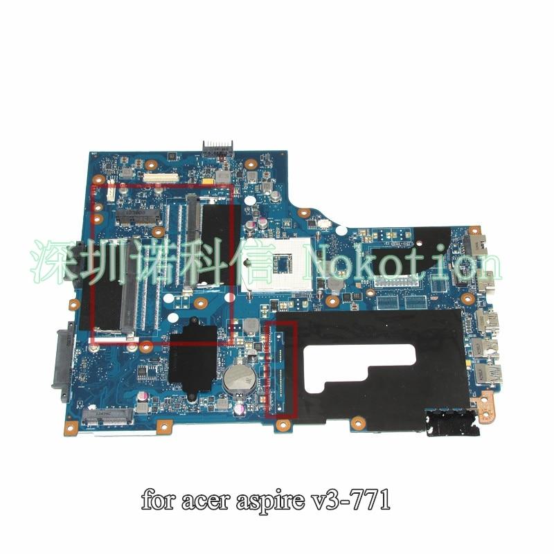NOKOTION VA70 VG70 Main board rev 2.0 For Acer aspire V3-771 V3-771G Laptop Motherboard DDR3 va70hw main bd gddr5 motherboard for acer aspire v3 772g laptop main board ddr3 geforce gtx760m 100