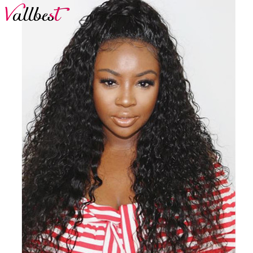 Lace Wigs Vallbest 360 Lace Frontal Wig Peruvian Water Wave Lace Front Human Hair Wigs For Black Women Adjustable Strape Cap Remy Lace Wig Hair Extensions & Wigs