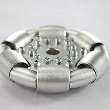 100 мм всенаправленное колесо-90 degs диски из алюминия/4 дюйма одно алюминиевое omni колесо 14179