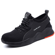 plus size men leisure comfortable steel toe cap work safety shoes construction site worker shoe tooling security boots protect new design mens big size breathable steel toe cap work safety shoes building site worker summer shoe tooling security low boots