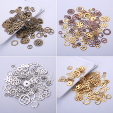 Vintage Metal Steampunk Gears Charms for Jewelry Making Diy Fashion Accessories Mixed Gear Pendant 100pieces/lot